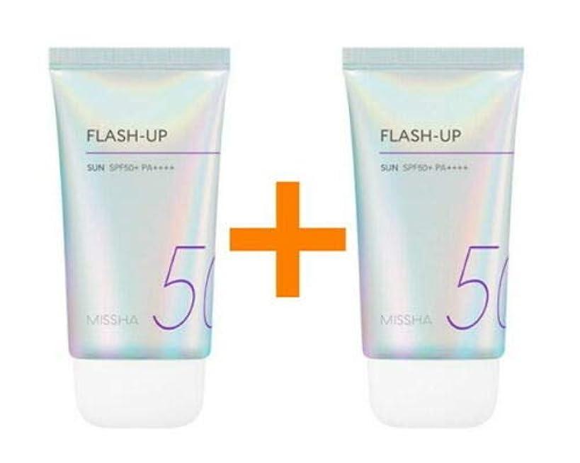 微視的ビルダークランプ[1+1] MISSHA ミシャ Flash-Up Sun 50ml SPF50+/PA++++ 韓国日焼け止め