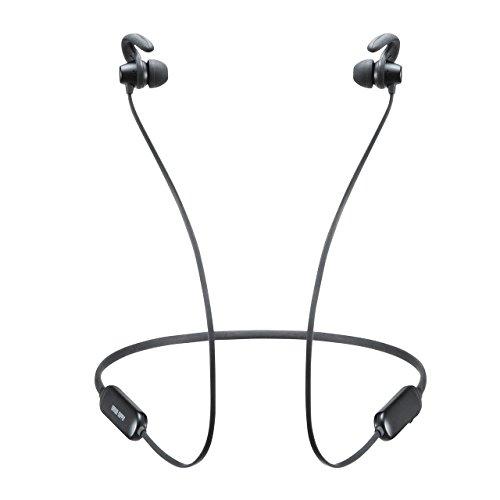 サンワダイレクト Bluetooth イヤホン 防水 マグネット ネックバンド 長時間再生 スポーツ Bluetooth4.0 IPX5 軽量 通話対応 400-BTSH011BK
