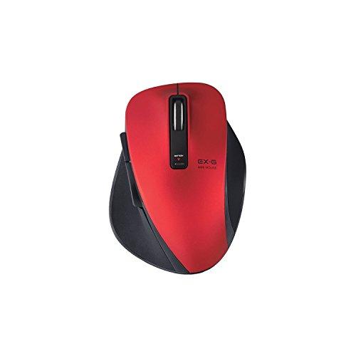 エレコム ワイヤレスマウス Bluetooth BlueLED  5ボタン Sサイズ レッド M-XG4BBRD