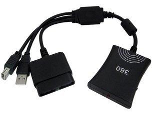 ■■スイッチ有り版です■■ PS2のデュアルショックコントローラーがXbox360で使用可能になるコンバーター<バルク品> [Xbox 360]