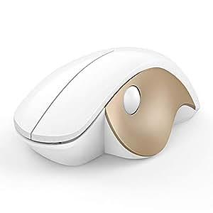 Jelly Comb ワイヤレスマウス 無線マウス 新型 快適ボタン 静音 2.4GHz 1600DPI 高精度 省エネモード 持ち運び便利 Mac/Windows/Surface/Microsoft Proに対応 【180日間保証付き】(ホワイト+ゴールド)