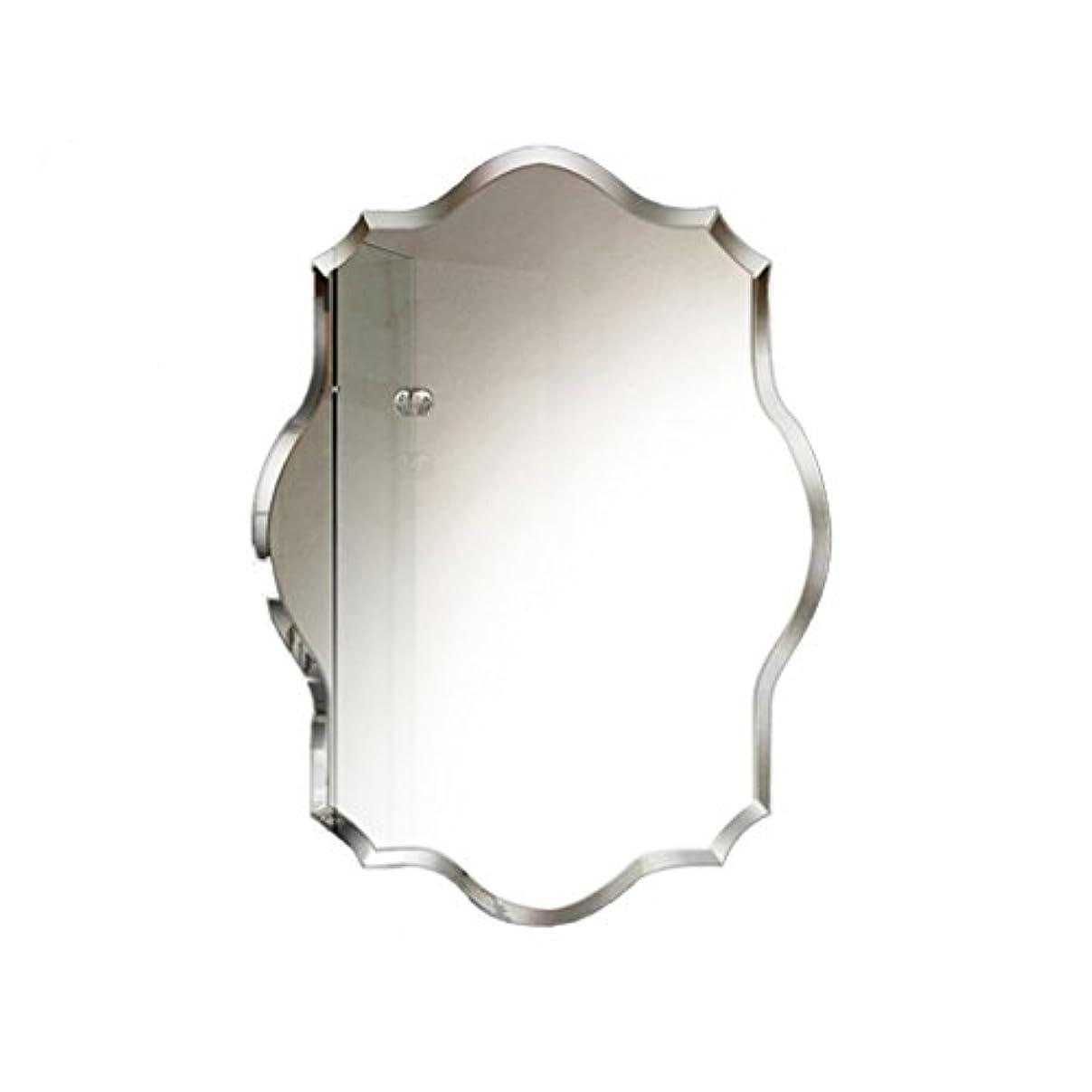 SZQ ウォールマウントミラー、バスルーム/多機能/ベッドルーム/装飾/縁なし/多角形/メイクアップミラー/クリエイティブミラー 反射良い (サイズ さいず : 50 * 70CM)