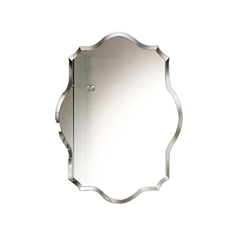 センチメンタルレトルト失礼なSZQ ウォールマウントミラー、バスルーム/多機能/ベッドルーム/装飾/縁なし/多角形/メイクアップミラー/クリエイティブミラー 反射良い (サイズ さいず : 50 * 70CM)