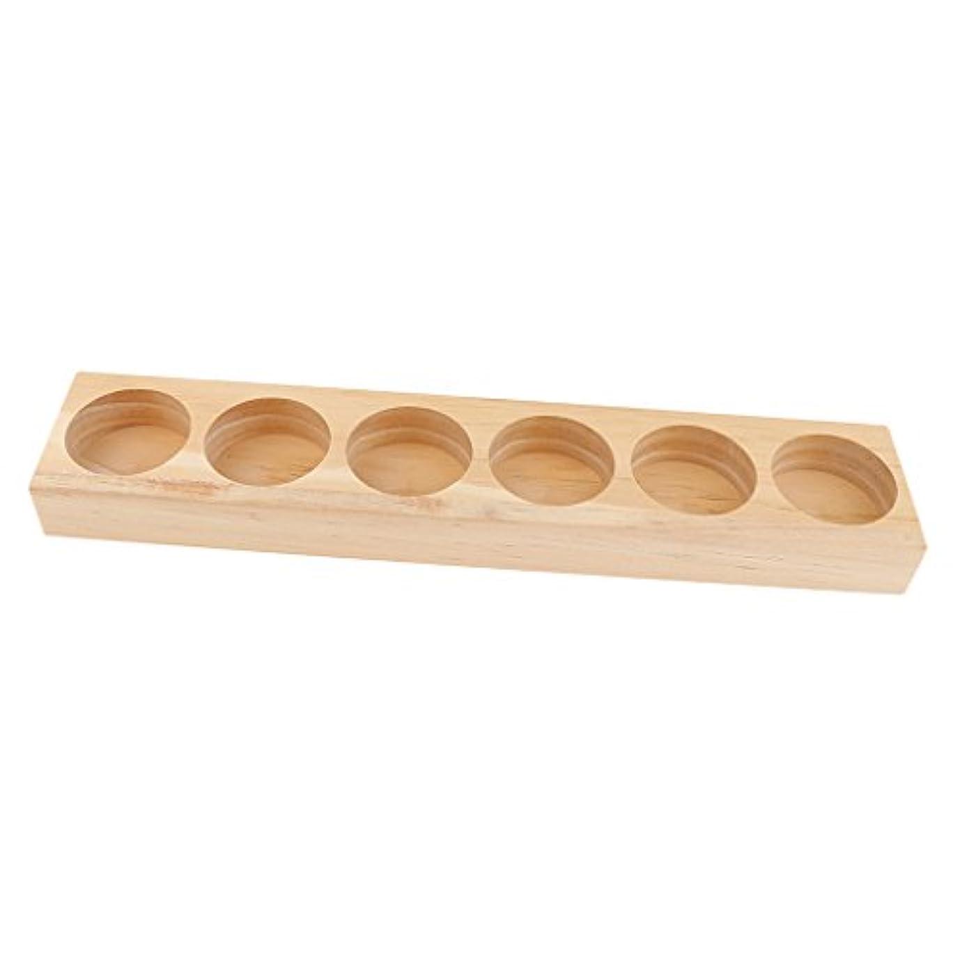 サーバ軽蔑店主エッセンシャルオイル ホルダー 木製 収納ケース ディスプレイ オーガナイザー 全5タイプ - 21.8x4.3x1.8cm