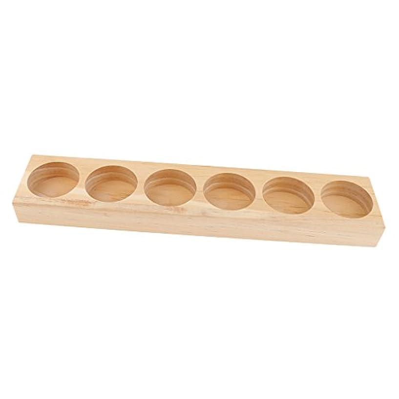 構成足首国民投票エッセンシャルオイル ホルダー 木製 収納ケース ディスプレイ オーガナイザー 全5タイプ - 21.8x4.3x1.8cm