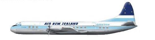"HOBBY MASTER 1/200 ロッキードL-188エレクトラ/ニュージーランド航空""ZK-TEB"" HL1007"