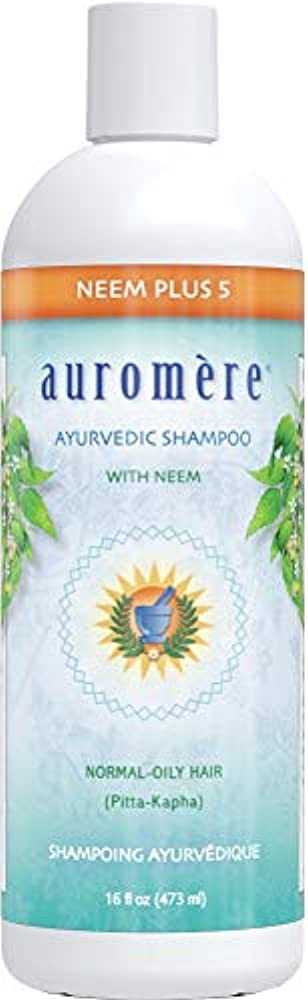 喉頭目の前の雄弁家オーロメア (Auromere) アーユルヴェーダ シャンプー/ニーム+5 473ml 2+1個 セット