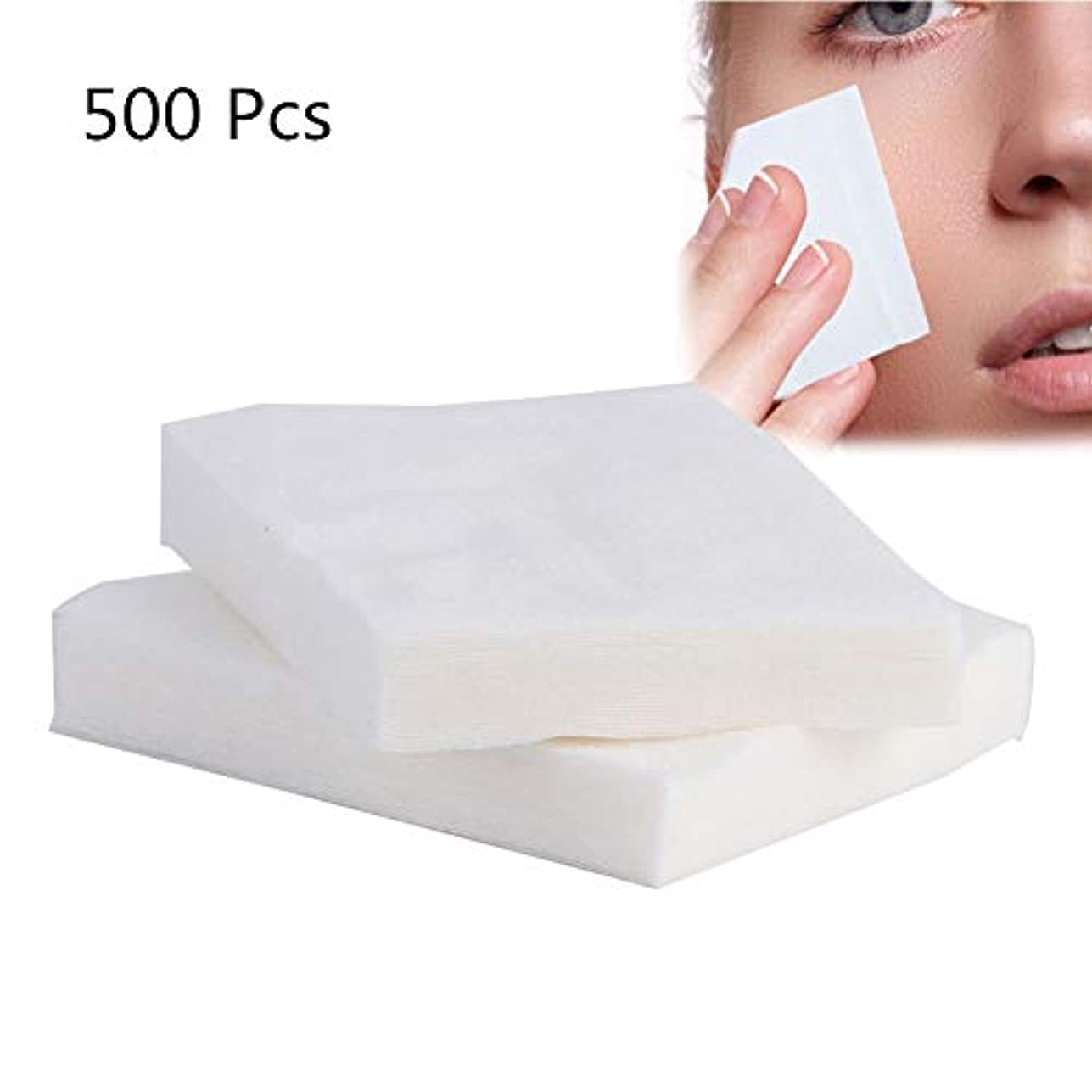 500ピース綿棒、化粧用メイク落とし、洗顔、ウェット/ドライ/フェイス/メイク落とし用