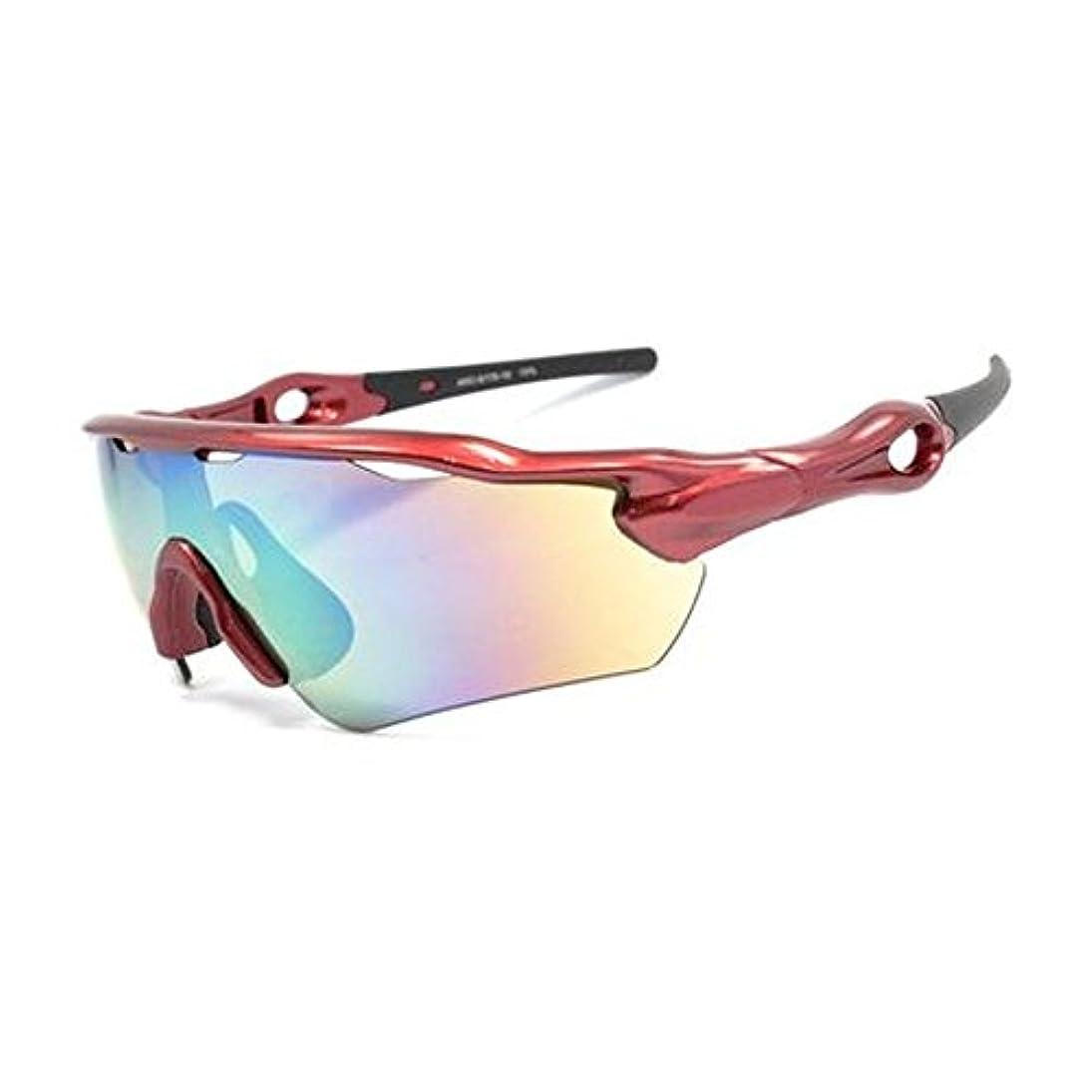 なるメイン買うARC STYLE(アーク スタイル) スポーツサングラス 一眼レンズ ARC-6179-10 メタリックレッド