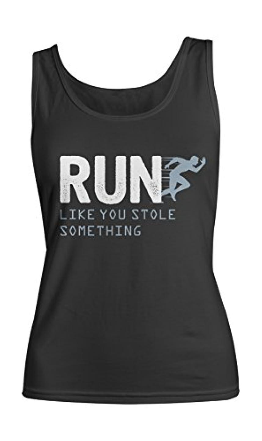 キュービック若者スラム街Run Like You Stole Something おかしいです Running Jogging やる気を起こさせます レディース Tank Top Sleeveless Shirt