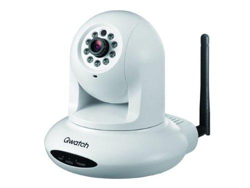 I-O DATA パン・チルト/暗視機能搭載 有線/無線LAN対応ネットワークカメラ「Qwatch」 TS-WPTCAM