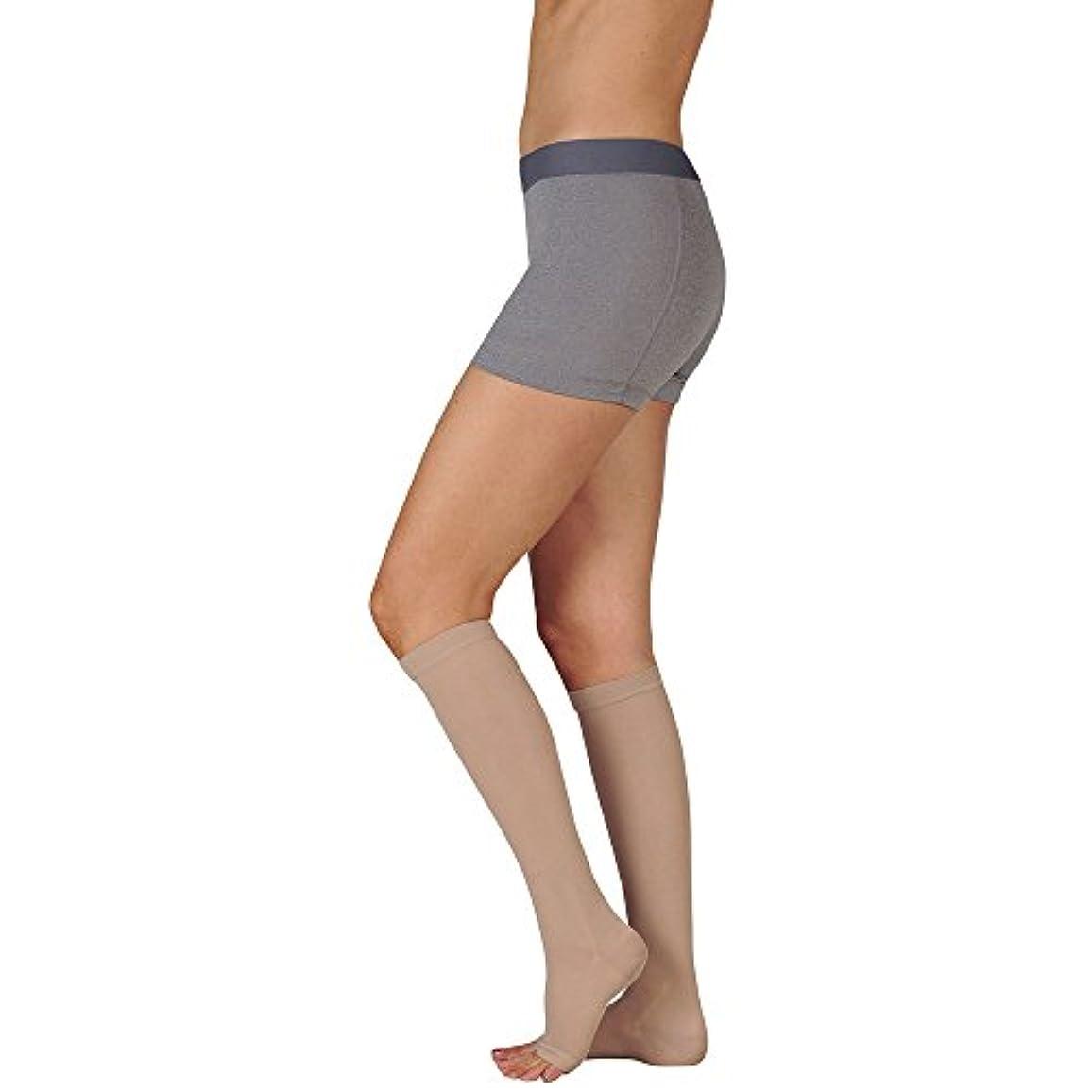 中性干し草真面目なJuzo Basic Knee High Short Open Toe 20-30mmHg, III, beige by Juzo