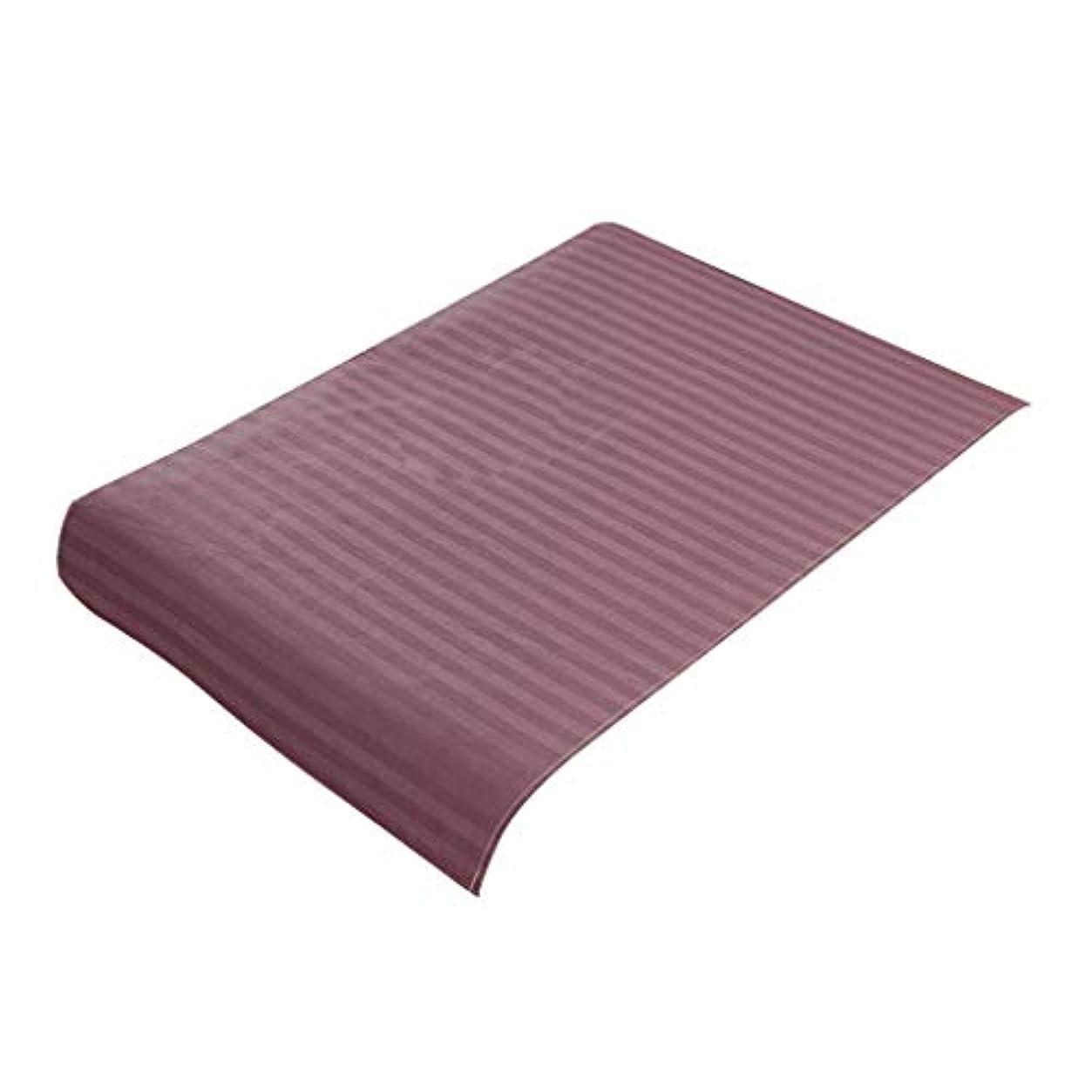処方する笑い条件付きFLAMEER 美容ベッドカバー マッサージ台スカート コットン生地 スパ マッサージベッドカバー 全7色 - 紫
