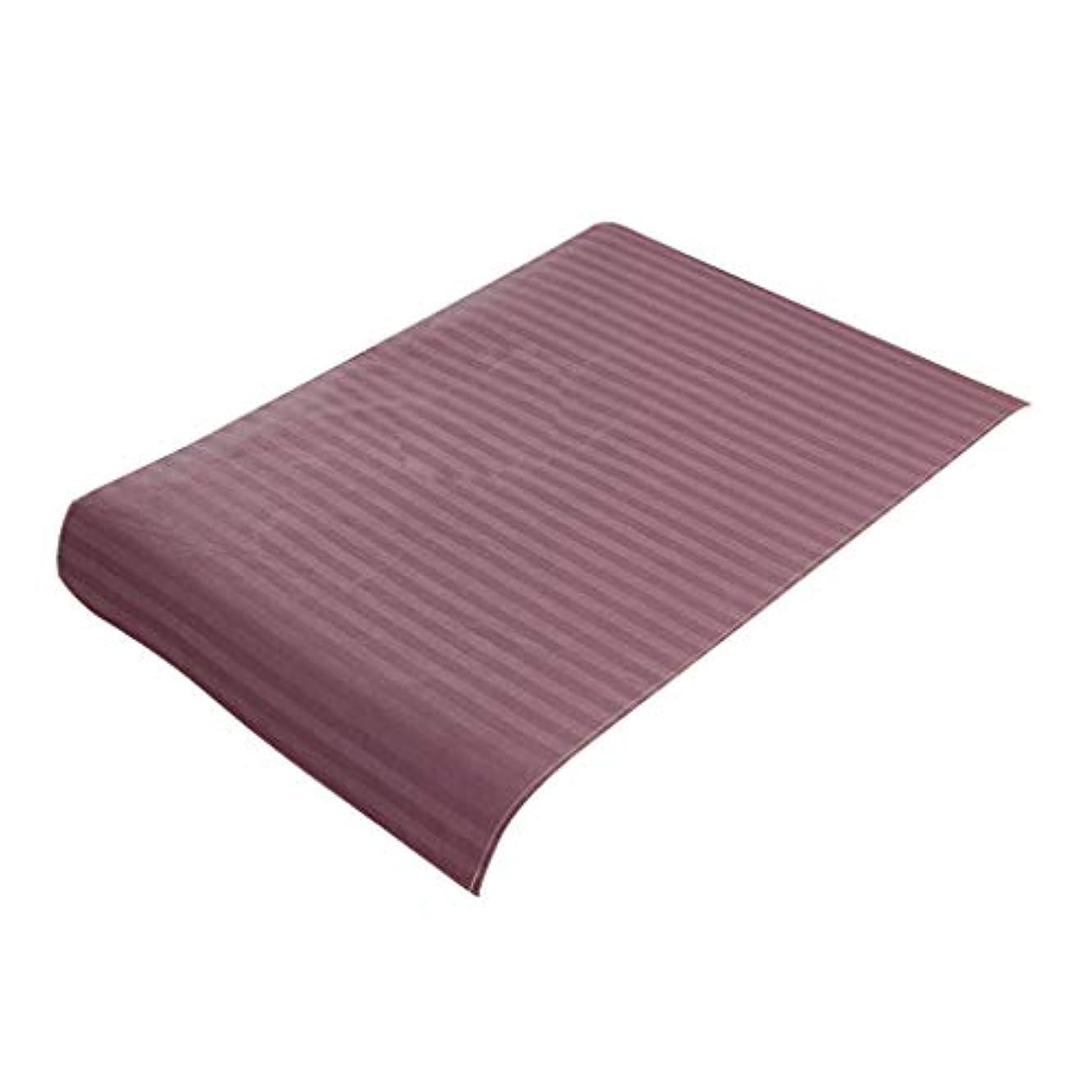 机ハンディ告白スパ マッサージベッドカバー 美容ベッドカバー 綿製 断面 マッサージテーブルスカート 60x90cm - 紫