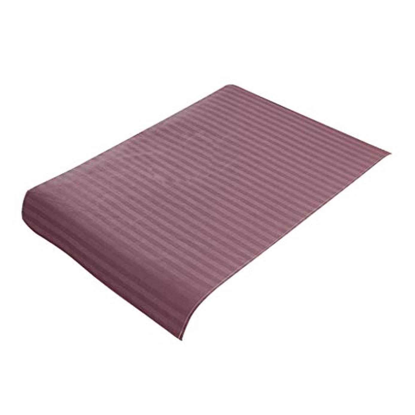 P Prettyia スパ マッサージベッドカバー 美容ベッドカバー 綿製 断面 マッサージテーブルスカート 60x90cm - 紫