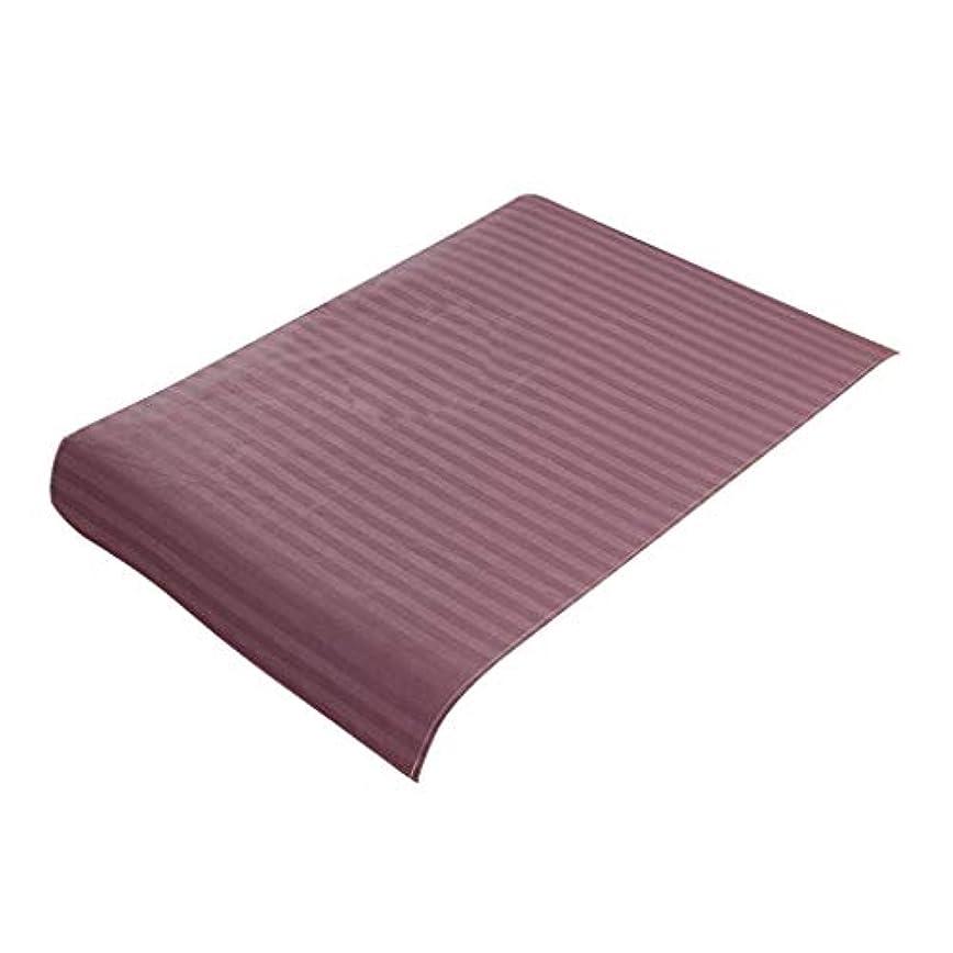 同封する親指中庭スパ マッサージベッドカバー 美容ベッドカバー 綿製 断面 マッサージテーブルスカート 60x90cm - 紫