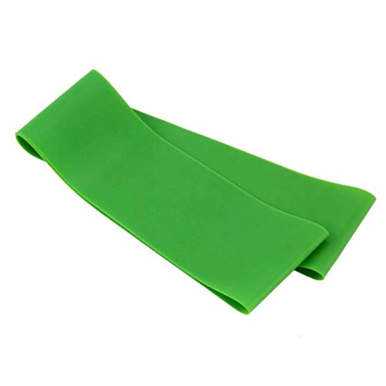 吹きさらし長さ留まる滑り止め伸縮性ゴム弾性ヨガベルトバンドプルロープ張力抵抗バンドループ強度のためのフィットネスヨガツール - グリーン