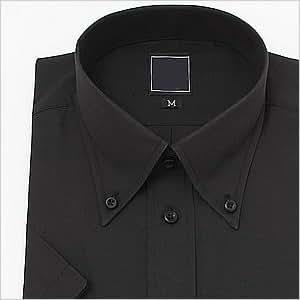 半袖ボタンダウン 黒 ワイシャツ ボタンダウン 半袖ワイシャツ メンズ 半袖 Yシャツ 3Lサイズ
