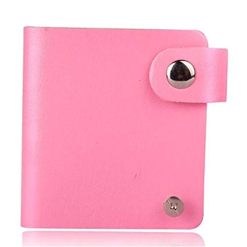 Underleaf ネイルアートプリントテンプレートカードパッケージレザーネイルスタンピングプレートバッグケースフォルダマニキュアスタンプステンシルホルダーツール(ピンク)