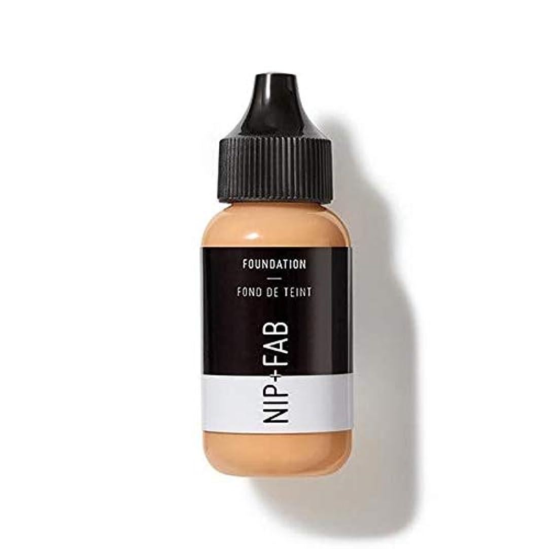 北米チョコレート使役[Nip & Fab ] 基礎30ミリリットル35を構成するFab +ニップ - NIP+FAB Make Up Foundation 30ml 35 [並行輸入品]