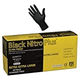 Ultra Fresh Black Nitro Plus Nitrile 300mm Disposable Heavy Duty Fully Textured Powder Free Glove (Large)
