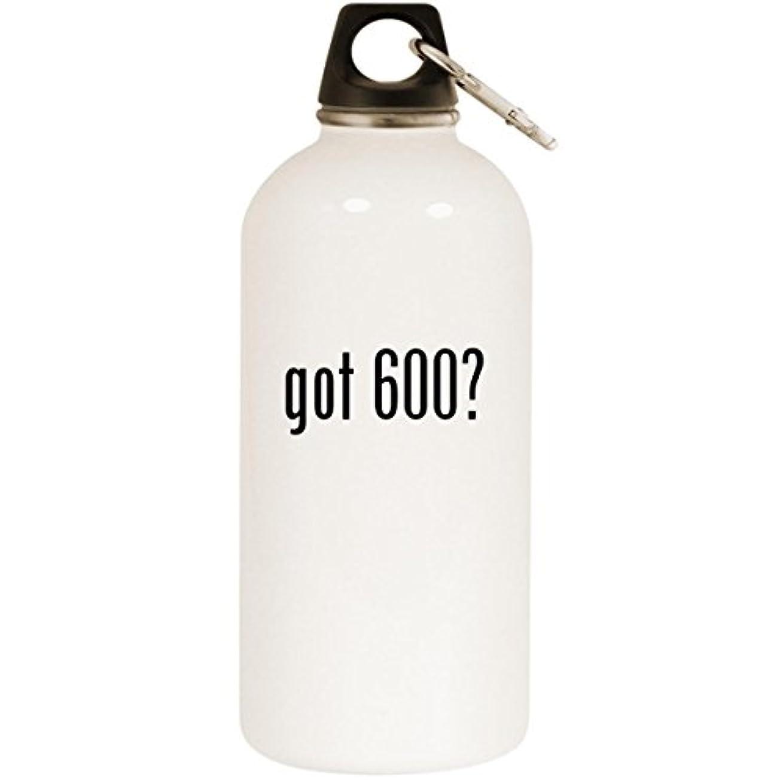 時引退した設計図Got 600 ? – ホワイト20ozステンレススチールウォーターボトルカラビナ
