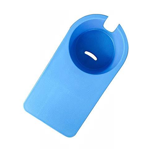 クリップ式カップホルダー カップ ホルダー ドリンク コップ ボトル 置き場 テーブル サイド 机 雑貨 飲み物 テーブルにカップホルダーを増設 ブルー
