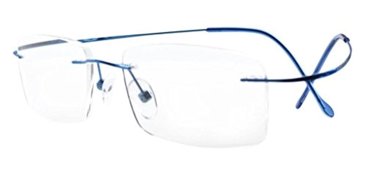 受粉者成功する音節アイキーパー(Eyekepper)チタン 縁(フチ)なし リーディンググラス シニアグラス 老眼鏡 男 女 兼用 メンズ レディース +1.00