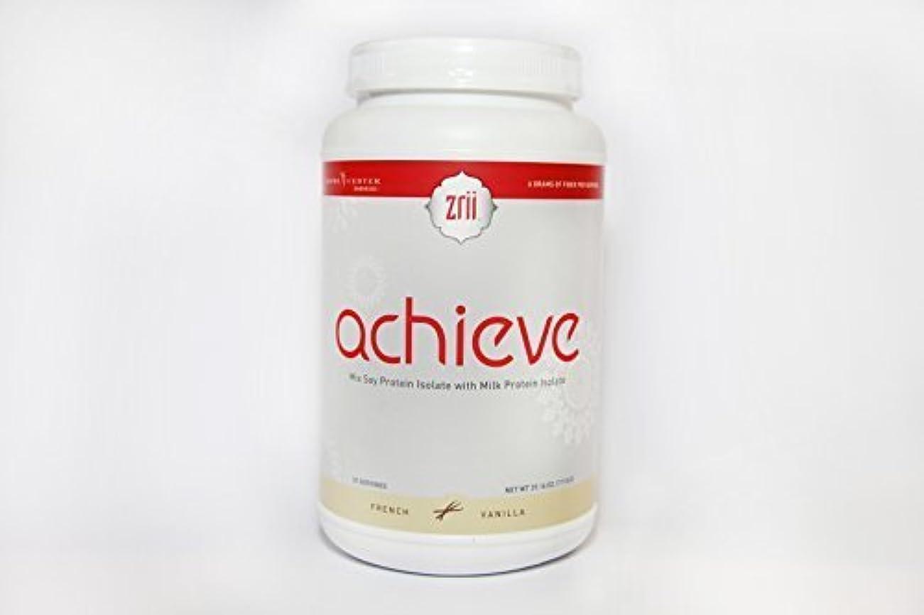 贅沢な地獄かもしれない1x Zrii ACHIEVE Mix Soy Protein Isolate with Milk Protein Isolate French Vanilla ( 39.16 ounce ) by Zrii
