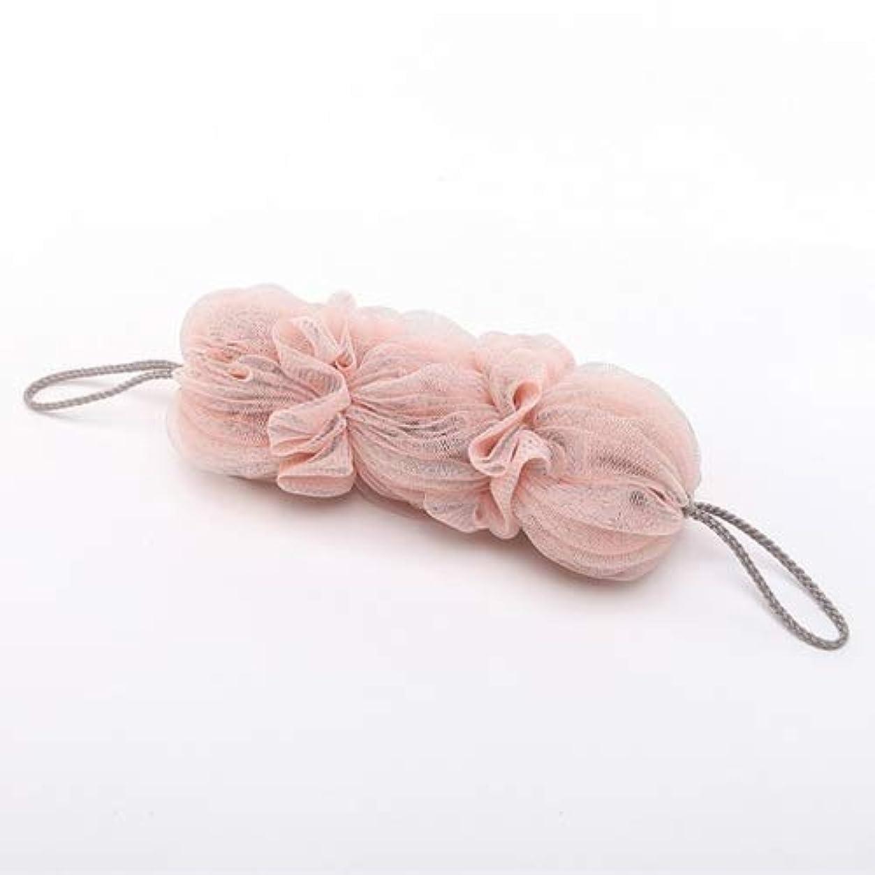 争う葉を拾う服を片付けるバスルーム用品 両面バスボール風呂浴槽バスタオルスクラバーボディ剥離シャワーボール (色 : Light pink)
