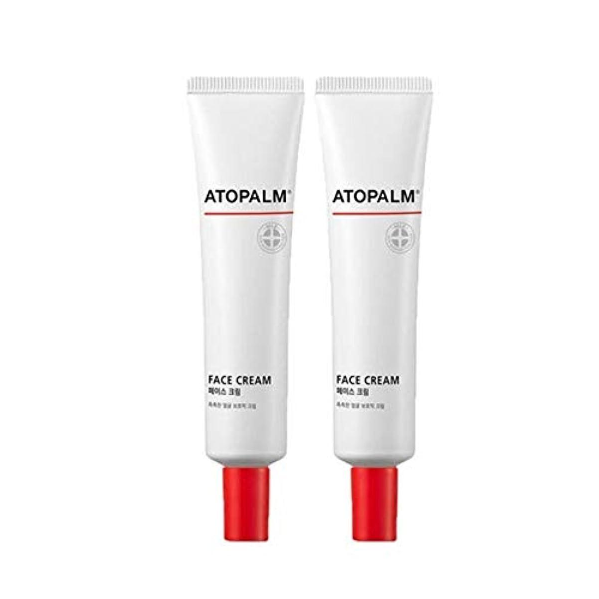 白い体操ドルアトパムフェイスクリーム35mlx2本セット韓国コスメ、Atopalm Face Cream 35ml x 2ea Set Korean Cosmetics [並行輸入品]