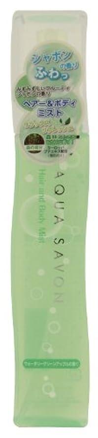 ワイヤー接辞悪質なアクアシャボン ヘアー&ボディミスト 13 S  ウォータリーグリーンアップルの香り 150mL