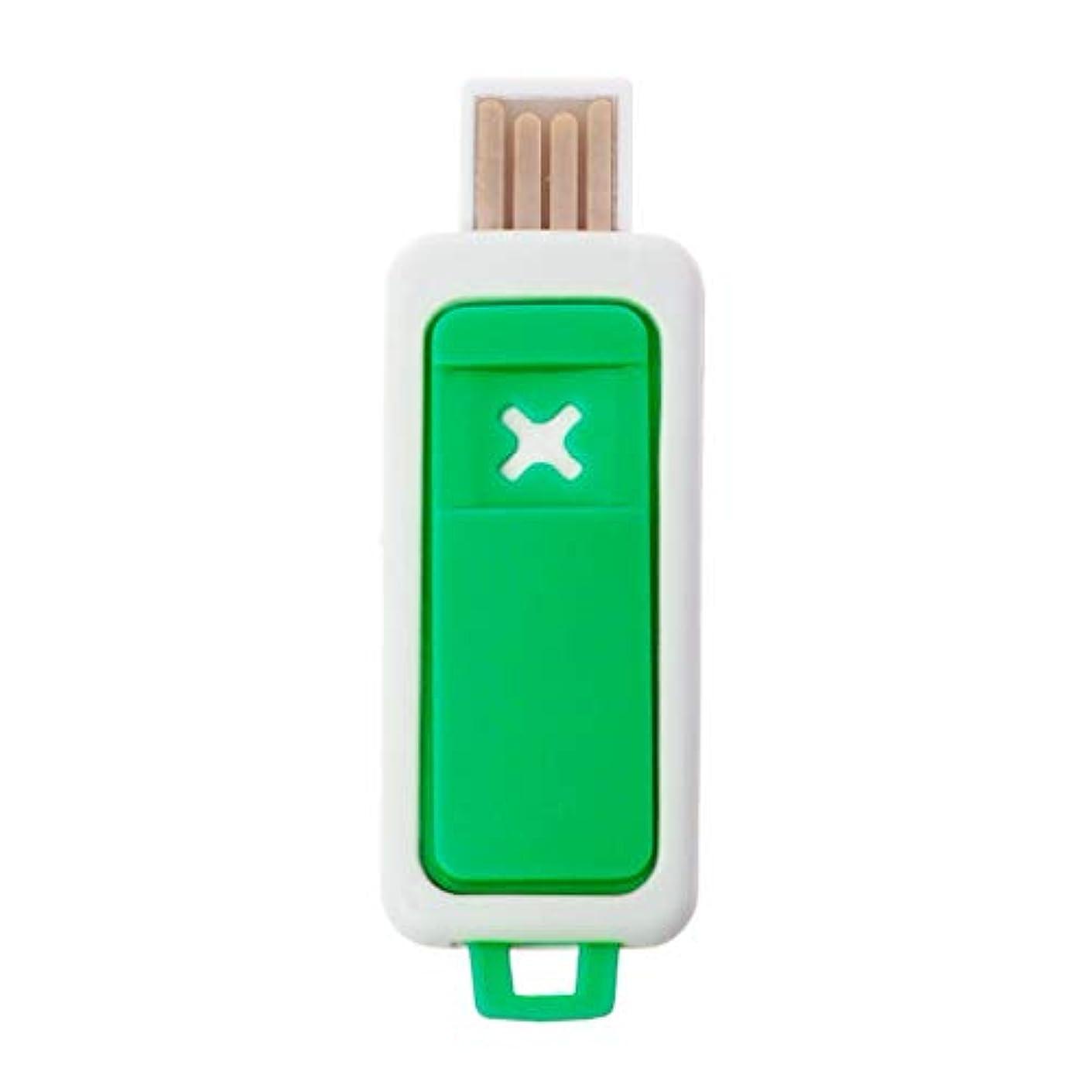 ブレイズモードリン焦がすSimpleLife ポータブルミニエッセンシャルオイルディフューザーアロマUSBアロマセラピー加湿器デバイス(グリーン2.3x6.7cm / 0.91x2.64in)