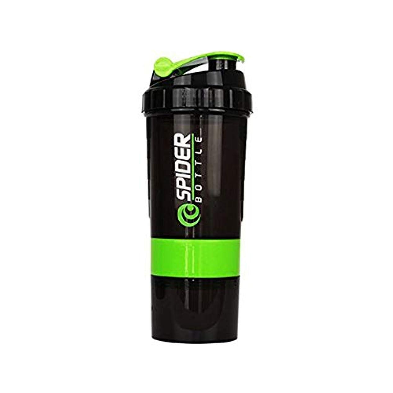 反対またはどちらかそれぞれSimg プロテインシェイカー 650ml シェーカーボトル プラスチック 目盛り ジム ダイエット スポーツ (グリーン)