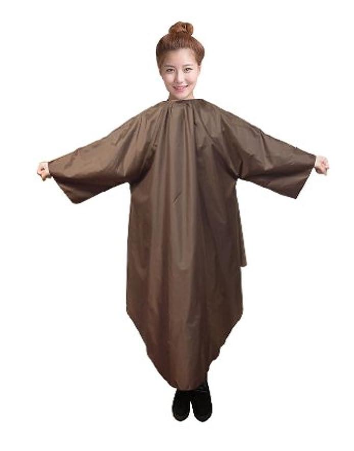 服を着る中にライター袖付カラークロス/マジックタイプ 全2色【大きい椅子対応】 (ブラウン)