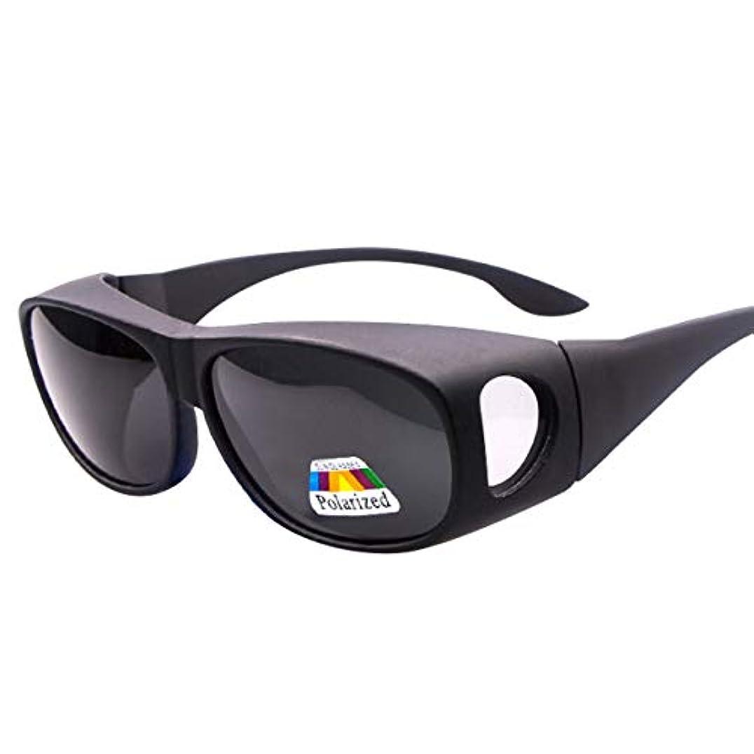 著作権ブレークフックHAMILO オーバーグラス 偏光サングラス UVカット 紫外線 花粉対策 メガネの上から掛けられる
