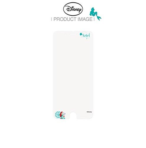 Disney ART TEMPERED GLASS ディズニーアート強化ガラス ディズニープリンセスシリーズ(アリエル)/アイフォンiPhoneスマホ保護ガラス、硬度9Hキズスクラッチ防止、0.33mm、2.5Dラウンドソフトエッジ、強化ガラスへ直接キャラクター印刷、フルカラー2880dpi印刷、高鮮明、快適パーフェクトタッチ、飛散防止、指紋防止、水はじきコーティング (iPhone 7)