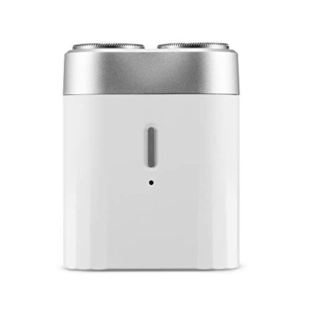 鬼ごっこインテリアたっぷりミニメン電気シェーバー、USBポータブルコードレスドライウェットトラベルカミソリ、ブラック