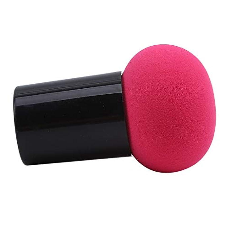 HKUN スポンジパフ 化粧パフ ケース付き きのこ形 使いやすい マッシュルーム型 メイク用 乾湿両用 美容ツール オシャレ ローズレッド