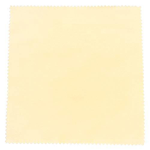 センヨン 銀磨きクロス シルバーみがき布 クリーナー 17.5cm×17.5cm 5枚セット イエロー