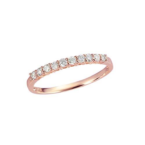 [ジュエリーツツミ]JEWELRY TSUTSUMI K10ピンクゴールドダイヤモンドリング RFR093-001 11号