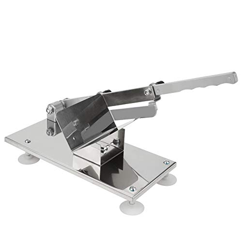 Yosoo 0.3-15mm 手動ミートスライサー 家庭用 業務用手動肉切り機 冷凍肉スライス 手動食品肉スライサー 合金鋼鉄刃 錆び易くない