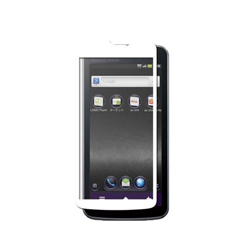 iBUFFALO au AQUOS Phone IS13SH 気泡レス【誰が貼っても気泡ができにくい】液晶保護フィルムイージーフィット/反射(ホワイト) BSEFIS13SHWH