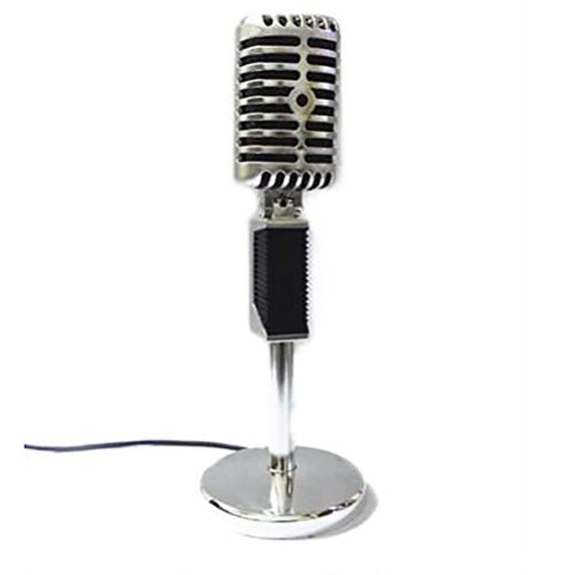 移住する削る編集者BALIYIN 高品質レコーディングコンデンサーマイクKソング音声マイクデスクトップラップトップ有線マイク (銀)