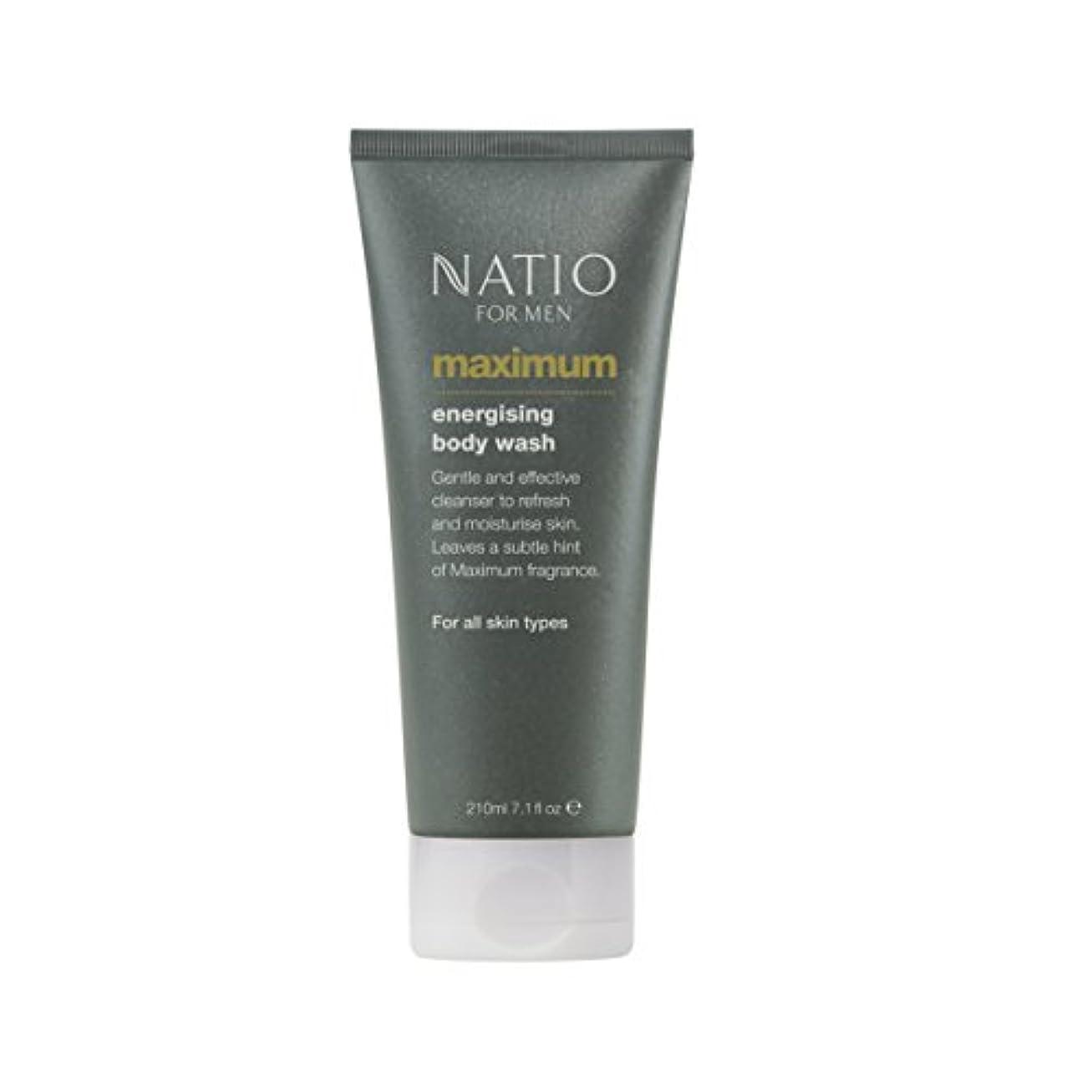 鹿確立します亡命Natio Men's Maximum Energising Body Wash 210ml