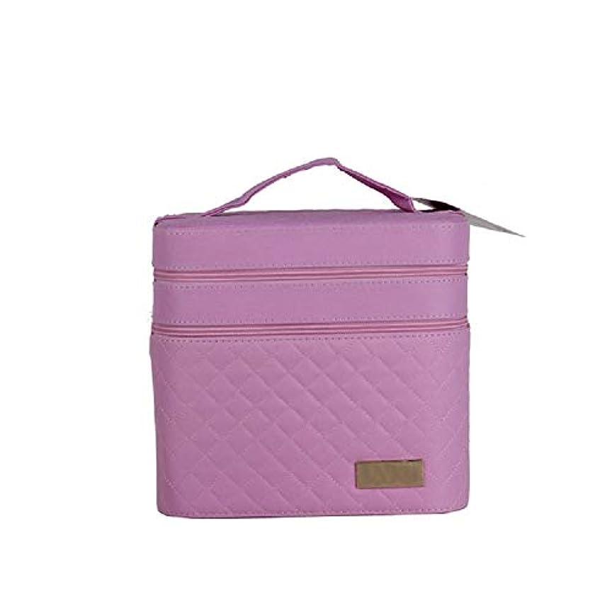 添加剤腐敗水素化粧オーガナイザーバッグ ジッパーと化粧鏡で小さなものの種類の旅行のための美容メイクアップのためのピンクのポータブル化粧品バッグ 化粧品ケース