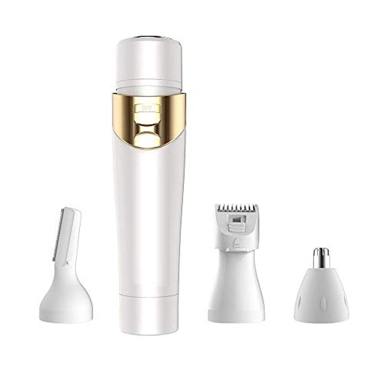 キャラバン取り囲む十年1つの女性シェーバーウェットとドライの使用USBでひげリムーバー女性レディシェーバー充電式4フェイス眉毛の鼻とボディ用の充電