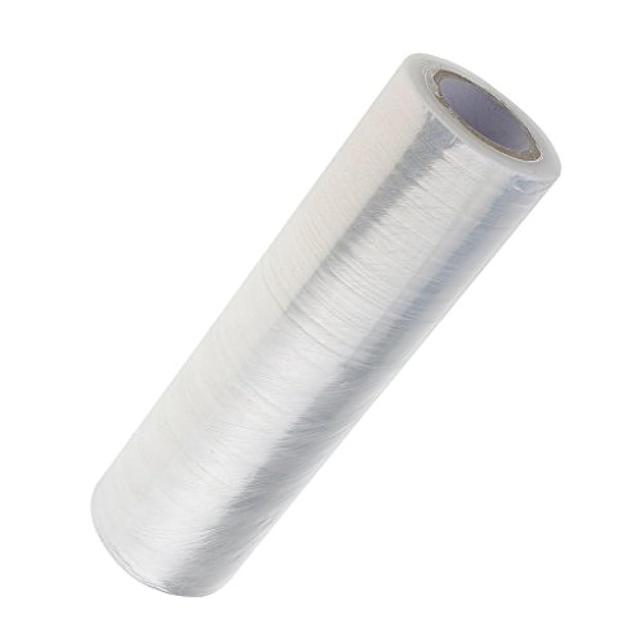 Perfk 1ロール 美容用ラップ プラスチック 髪用ラップ ボディラップ ペーパー ウエスト/足 家庭サロン適用 燃焼汗 ヘアケア