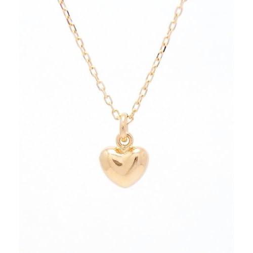Gold Heart 18金製 K18 gold ゴールド (日本製 Made in Japan) (金属アレルギー対応) ハート プチ ペンダント ネックレス チェーン 40cm ジュエリー (Amazon.co.jp 限定) [HJ]