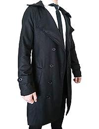 [ビーエヌワン] コート ロング Pコート イギリス 風 メンズ